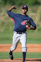 Cleveland Indians minor leaguer Julio Bolivar during Spring Training at the Chain of Lakes Complex on March 17, 2007 in Winter Haven, Florida.  (Mike Janes/Four Seam Images)