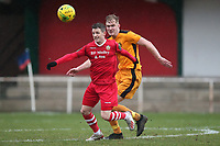 Jamie Cureton of Hornchurch and James Richmond of Merstham during Hornchurch vs Merstham, BetVictor League Premier Division Football at Hornchurch Stadium on 15th February 2020