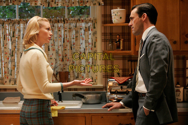 JANUARY JONES & JON HAMM.in Mad Men (Episode 2) .**Filmstill - Editorial Use Only**.CAP/FB.Supplied by Capital Pictures