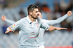 Celta de Vigo's Nolito celebratres goal during La Liga match. February 27,2016. (ALTERPHOTOS/Acero)