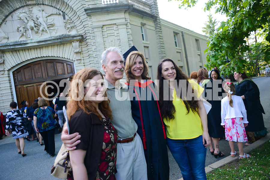 LAKEWOOD, NJ - MAY 22, 2013: Graduate student commencement at Georgian Court University May 22, 2013 in Lakewood, New Jersey. (Photo by William Thomas Cain/Cain Images) http://www.cainimages.com