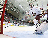Philip Samuelsson (BC - 5) - The Boston College Eagles defeated the University of Massachusetts-Amherst Minutemen 6-5 on Friday, March 12, 2010, in the opening game of their Hockey East Quarterfinal matchup at Conte Forum in Chestnut Hill, Massachusetts.