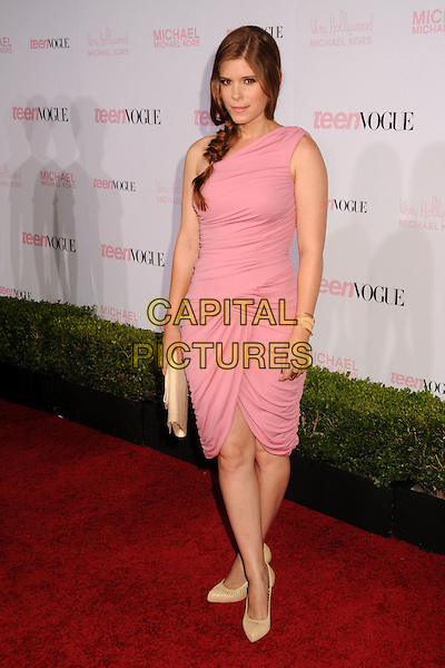 KATE MARA .The 8th Annual Teen Vogue Young Hollywood Party held at Paramount Studios,  Los Angeles, California, USA, 1st October 2010..full length pink dress ruched sleeveless beige cream shoes clutch bag  .CAP/ADM/BP.©Byron Purvis/AdMedia/Capital Pictures.