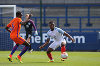 Adetayo Edun (Fulham) of England U19 in action during the International match between England U19 and Netherlands U19 at New Bucks Head, Telford, England on 1 September 2016. Photo by Andy Rowland.