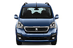 Car photography straight front view of a 2018 Peugeot Partner Tepee Electric Allure 5 Door Mini Van
