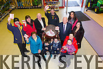 Winners of the Brownes Castleisland Christmas Givesaway 2014 on Friday. Pictured Seamus Murphy from, Knocknagoshel Winner of the Grand Prize at Brownes Castleisland, (centre Back), Mossie O'Leary, Lyreacrompane (Second), Larry Burke, Sandville, Castleisland (2 Tonne of Coal), Eileen Lynch and Kev Kelleher, Caheragh, Castleisland (1 Tonne of Coal), Martina O'Neill, Upper Lissivigeen, Killarney, Vincent Murphy, Sports Shop (Peace Commissioner), Teresa Walker, Lee Strand, John Daly, Brownes, Oran O'Neill, Riann O'Neill, Caoimhe O'Neill
