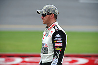 Jul. 4, 2008; Daytona Beach, FL, USA; NASCAR Sprint Cup Series driver Dale Earnhardt Jr during qualifying for the Coke Zero 400 at Daytona International Speedway. Mandatory Credit: Mark J. Rebilas-