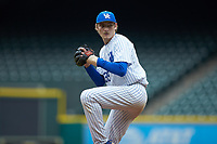 Kentucky Wildcats relief pitcher Zach Haake (39) in action against the Sam Houston State Bearkats during game four of the 2018 Shriners Hospitals for Children College Classic at Minute Maid Park on March 3, 2018 in Houston, Texas. The Wildcats defeated the Bearkats 7-2.  (Brian Westerholt/Four Seam Images)