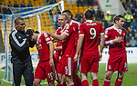 St Johnstone v Aberdeen.....07.12.13    SPFL<br /> Niall McGinn celebrates his goal<br /> Picture by Graeme Hart.<br /> Copyright Perthshire Picture Agency<br /> Tel: 01738 623350  Mobile: 07990 594431