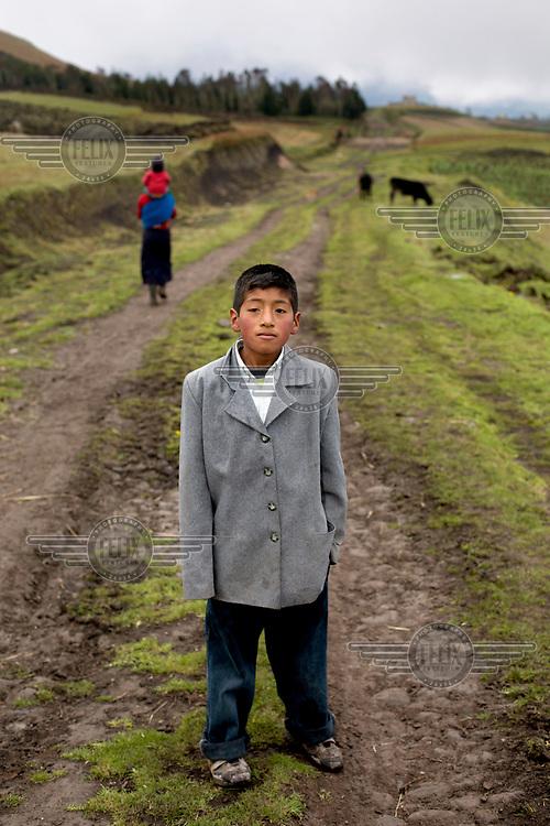 Christian Savid Yumibamba Toabanda, from the indigenous community of Limapamba.