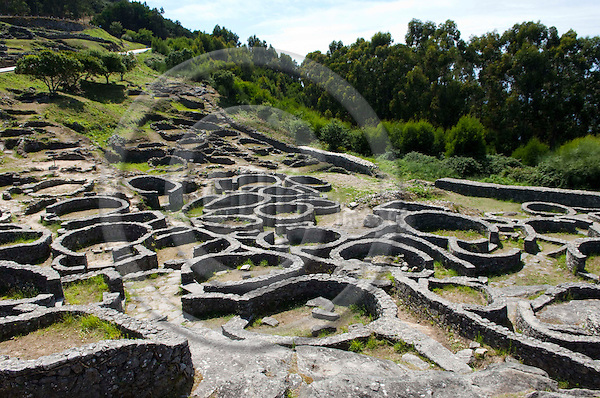 La Guardia / A Guarda-Galicia-Spain, July 31, 2009 -- Remnants of a castro / Celtic settlement, on the slopes of Monte de Santa Trega / Tegra / Tecla --  culture, tourism, archaeology -- Photo: Horst Wagner / eup-images