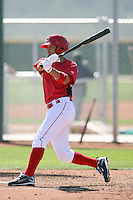 Kris Negron, Cincinnati Reds 2010 minor league spring training..Photo by:  Bill Mitchell/Four Seam Images.