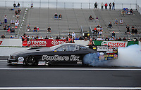 Jun. 1, 2012; Englishtown, NJ, USA: NHRA pro mod driver Leah Pruett during qualifying for the Supernationals at Raceway Park. Mandatory Credit: Mark J. Rebilas-