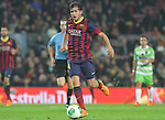 08.01.2014 Barcelona, Spain. Spanish Cup 1/8 Final. Picture show Sergi Roberto in action during game between FC Barcelona against Getafe at Camp Nou