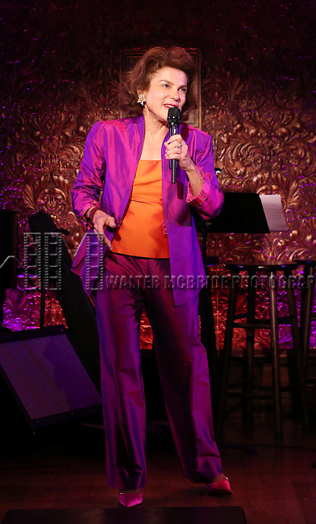 Tovah Feddshuh performing in a preview of 'Aging is Optional' at 54 Below on January 22, 2015 in New York City.