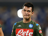 25th July 2020; Stadio San Paolo, Naples, Campania, Italy; Serie A Football, Napoli versus Sassuolo; Hirving Lozano of Napoli pre-game warm up