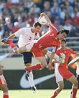 USA's Carlos Bocanagra against China during a 4-1USA victory in San Jose, Calif., June 2, 2007.