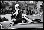 Iranians celebrate the Shah's departure. Tehran, January 16, 1979.