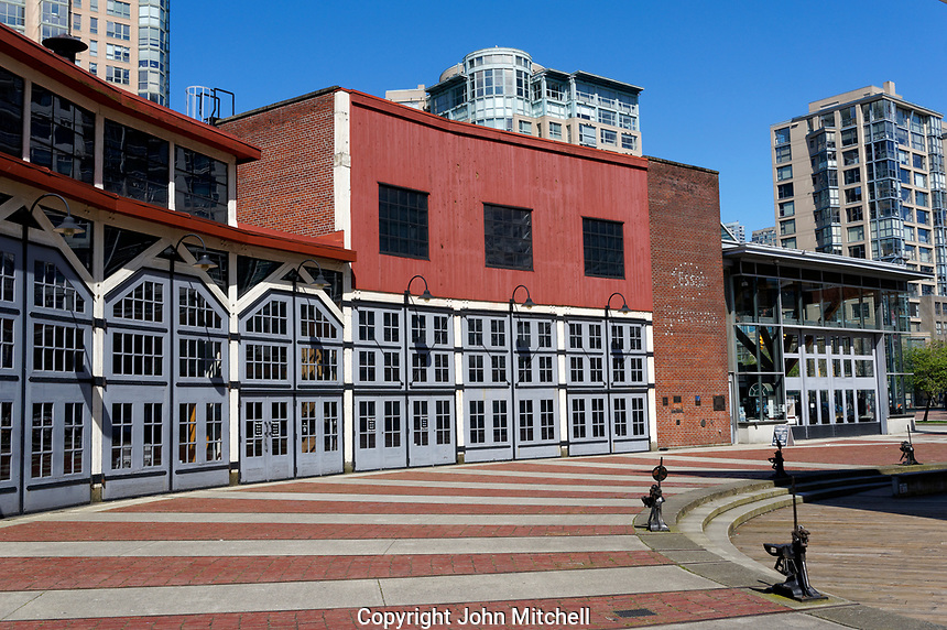 The historical Roundhouse building in Yaletown, Vancouver, British Columbia, Canada