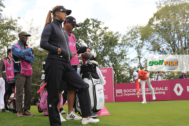 during Friday's Round 2 of the LPGA 2015 Evian Championship, held at the Evian Resort Golf Club, Evian les Bains, France. 11th September 2015.<br /> Picture Eoin Clarke | Golffile