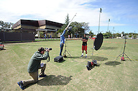 Stanford, Ca - Thursday, March 23, 2012: NFL Pro Timing day 2012. Chris Owusu photo shoot.