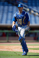 Toronto Blue Jays catcher Hagen Danner (26) during a Florida Instructional League game against the Philadelphia Phillies on September 24, 2018 at Spectrum Field in Clearwater, Florida.  (Mike Janes/Four Seam Images)