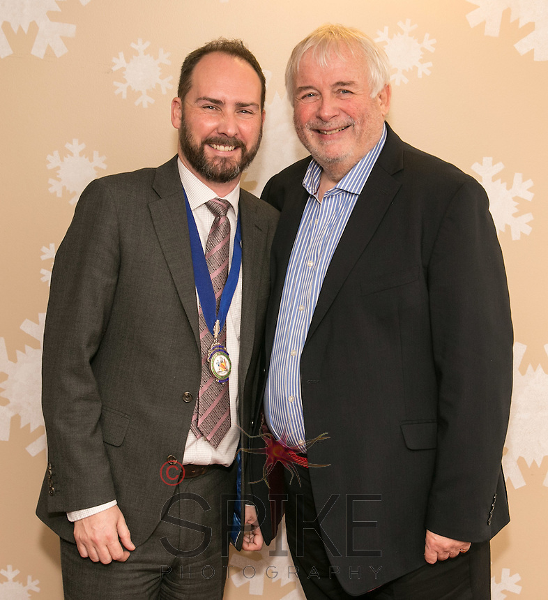 NCBC President James Simmonds and speaker Christopher Biggins