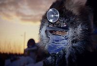 M.Brazin Closeup of Face 20 Below '90 Iditarod