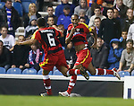Abdoulay Konko celebrates his ipening goal