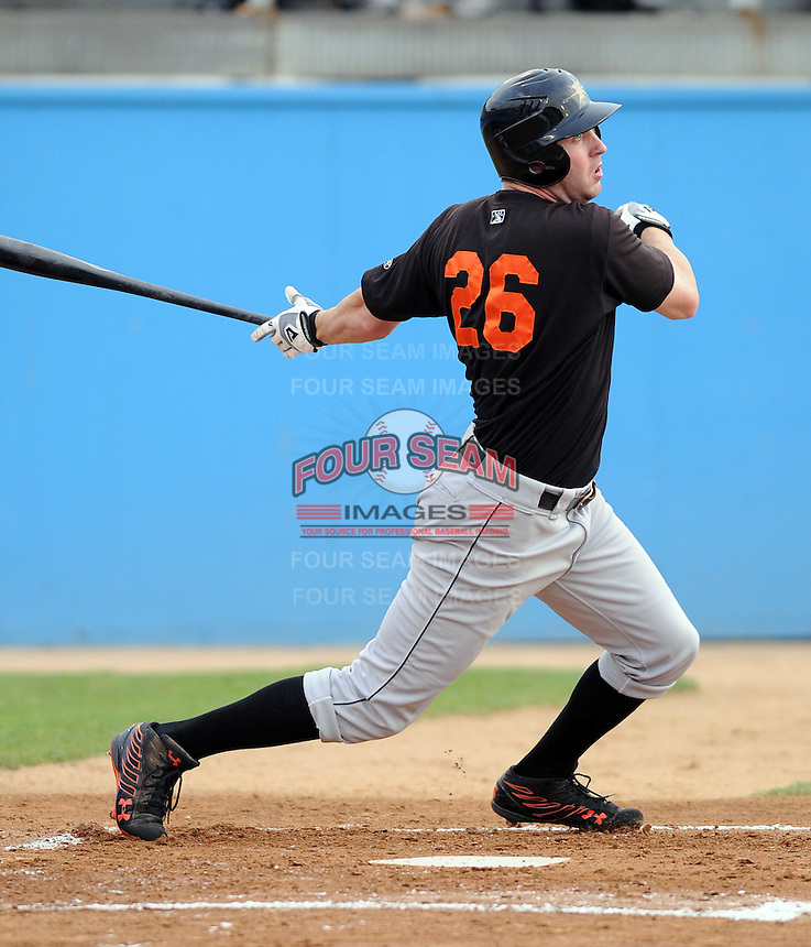 June 20, 2008: Outfielder Paul Winterling (26) of the Frederick Keys, Carolina League affiliate of the Baltimore orioles, in a game against the Potomac Nationals at G. Richard Pfitzner Stadium in Woodbridge, Va. Photo by:  Tom Priddy/Four Seam Images