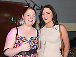 Tina McEvoy and Kyrsten Higgins at the White Collar Boxing in Ardee Parish Centre. Photo:Colin Bell/pressphotos.ie