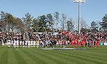 16 December 2007: The starters for both teams line up for player introductions. The Wake Forest University Demon Deacons defeated the Ohio State Buckeyes 2-1 at SAS Stadium in Cary, North Carolina in the NCAA Division I Mens College Cup championship game.