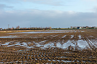 Flooded field follwoing heavy rainfall - Lincolnshire; December