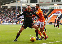 Sunderland's Aidan McGeady shields the ball from Blackpool's Liam Feeney<br /> <br /> Photographer Alex Dodd/CameraSport<br /> <br /> The EFL Sky Bet League One - Blackpool v Sunderland - Tuesday 1st January 2019 - Bloomfield Road - Blackpool<br /> <br /> World Copyright © 2019 CameraSport. All rights reserved. 43 Linden Ave. Countesthorpe. Leicester. England. LE8 5PG - Tel: +44 (0) 116 277 4147 - admin@camerasport.com - www.camerasport.com