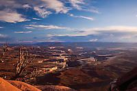 Green River overlook at sunset in Canyonlands National Park in Utah