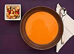 Gazpacho (kalte Tomatensuppe) als Vorgericht