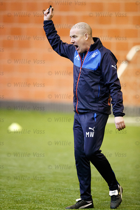 Mark Warburton at training