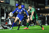 19 December 2014; Guinness Pro12 2014/15, <br /> Zane Kirchner, Leinster, is tackled by Matt Healy, Connacht. <br /> Leinster v Connacht, RDS, Ballsbridge, Dublin. Picture credit: Tommy Grealy/actionshots.ie