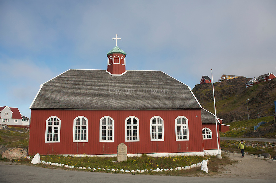 village de Qaqortoq fondé par Erik Le rouge.église
