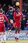 08.03.2020: Ross County v Rangers: Lewis Spence gets his arms out as he challenges Joe Aribo