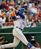 New York Mets right fielder Michael Conforto (30) strikes out in the second inning against the Washington Nationals at Nationals Park in Washington, D.C. on Wednesday, May 15, 2019.<br /> Credit: Ron Sachs / CNP<br /> (RESTRICTION: NO New York or New Jersey Newspapers or newspapers within a 75 mile radius of New York City)