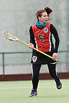 Frankfurt am Main, Germany, March 14: During the Damen 1. Bundesliga West Lacrosse match between SC 1880 Frankfurt and Duesseldorfer Hirschkuehe on March 14, 2015 at the SC 1880 Frankfurt in Frankfurt am Main, Germany. Final score 20-13 (13-8). (Photo by Dirk Markgraf / www.265-images.com) *** Local caption *** Sarah Bailly #5 of SC 1880 Frankfurt