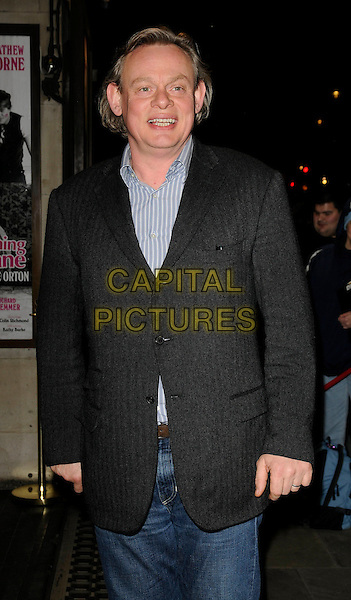 "MARTIN CLUNES .Press Night for ""Entertaining Mr Sloane"" at the Trafalgar Studios, London, England,  January 30th 2009.half length black suit jacket jeans.CAP/CAN.©Can Nguyen/Capital Pictures"