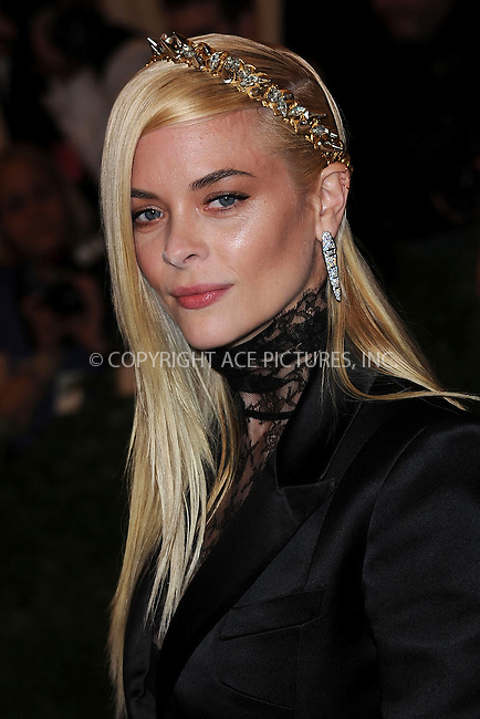 WWW.ACEPIXS.COM....May 6 2013, New York City....Jamie King arriving at the Costume Institute Gala for the 'PUNK: Chaos to Couture' exhibition at the Metropolitan Museum of Art on May 6, 2013 in New York City.....By Line: Kristin Callahan/ACE Pictures......ACE Pictures, Inc...tel: 646 769 0430..Email: info@acepixs.com..www.acepixs.com