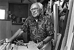 75 year old woodworker Charles Garcia. Part of the Face of Labor portrait series. 1999 (Photo/Victoria Sheridan)