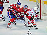 21 December 2008: Carolina Hurricanes' left wing forward Sergei Samsonov from Russia tries to get a shot on net in the first period against the Montreal Canadiens at the Bell Centre in Montreal, Quebec, Canada. The Hurricanes defeated the Canadiens 3-2 in overtime. ***** Editorial Sales Only ***** Mandatory Photo Credit: Ed Wolfstein Photo