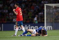 Football: Uefa European under 21 Championship 2019, Italy - Spain Renato Dall'Ara stadium Bologna Italy on June16, 2019.<br /> Italy's Nicolò Zaniolo is lying down on the pitch after being injured during the Uefa European under 21 Championship 2019 football match between Italy and Spain at Renato Dall'Ara stadium in Bologna, Italy on June16, 2019.<br /> UPDATE IMAGES PRESS/Isabella Bonotto