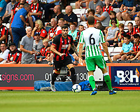 Diego Rico of AFC Bournemouth takes on Aergio Canales of Real Betis during AFC Bournemouth vs Real Betis, Friendly Match Football at the Vitality Stadium on 3rd August 2018