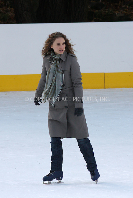 WWW.ACEPIXS.COM . . . . .  ....November 17 2008, New York City....Actress Natalie Portman was ice scating at the Woolman Rink in Central Park for a scene in her new movie 'Love and other impossible pursuits' on November 17 2008 in New York City....Please byline: AJ Sokalner - ACEPIXS.COM..... *** ***..Ace Pictures, Inc:  ..te: (646) 769 0430..e-mail: info@acepixs.com..web: http://www.acepixs.com