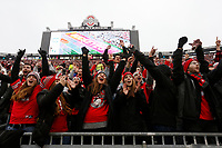 Ohio State fans celebrate after a touchdown was scored in the second quarter during the game against the University of Michigan at Ohio Stadium on November 24, 2018. [Samantha Madar/Dispatch]